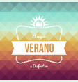 vintage spanish summer vacation greeting card vector image vector image