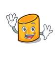 waving rigatoni character cartoon style vector image vector image