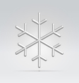 wire snowflake vector image vector image
