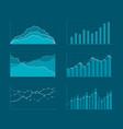 business data market elements template diagrams vector image