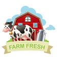 farm fresh with text vector image