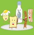 Breakfast Cartoon vector image