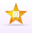 Star background anniversary 80 vector image