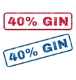 40 Percent Gin Rubber Stamps vector image vector image