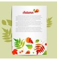 Acrylic colorful background with leafs vector image vector image