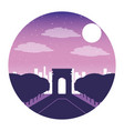arch of triumph paris france city night vector image vector image