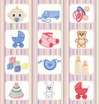 baby-icon-collection vector image