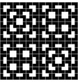 black geometric pattern on white background vector image vector image