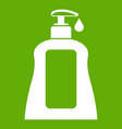 body care lotion icon green vector image vector image
