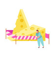 cheese not tolerated composition vector image