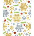 christmas seamless pattern background with gold vector image