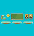classroom banner flat style vector image
