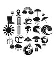 climate icons set simple style vector image vector image