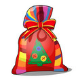 colorful pouch with a gift for christmas or new vector image vector image