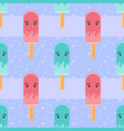 colorful seamless pattern of cute melting vector image