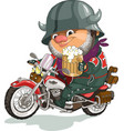 cool biker vector image