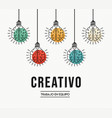 creative teamwork ideas spanish design concept vector image vector image