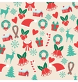 Decoration icon set Merry Christmas vector image