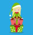 elves girl hair blonde 03 vector image vector image