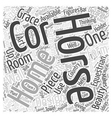 equestrian home decor Word Cloud Concept vector image vector image
