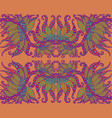 ethnic hippie ornamental colorful retro pattern vector image vector image
