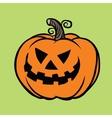 Evil Halloween pumpkin vector image vector image