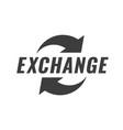 exchange icon symbol or emblem vector image