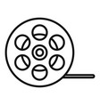film reel icon outline style vector image vector image