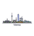 flat line vienna banner vector image vector image