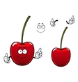 Fresh sweet cherry fruit cartoon character vector image vector image