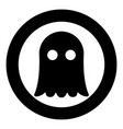 ghost icon black color simple image vector image