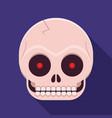 human skull icon vector image