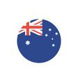 isolated australian flag button design