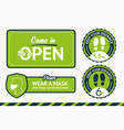 keep your distance wear mask a set banners vector image vector image