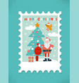 large postage stamp greeting card colorful vector image vector image