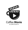 logo design coffee movie template vector image