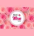 mother s day greeting card with beautiful blossom vector image vector image