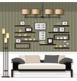 nice living room vector image