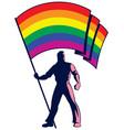 pride flag bearer vector image vector image