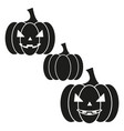 pumpkin of icon the helloween the evil vector image vector image