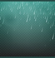 rain isolated on a transparent vector image
