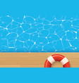 red pool ring and swimming pool summer background vector image