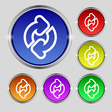Refresh icon sign Round symbol on bright colourful vector image