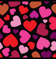 repeating pattern with hearts different vector image