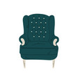 retro comfortable armchair cushioned furniture vector image
