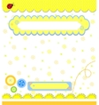 Romantic yellow scrapbooking for invitation vector image vector image