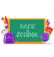 school items cartoon vector image