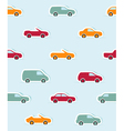 Seamless pattern with paper cars vector image vector image