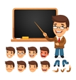 Set of Cartoon Teacher Character for Your Design vector image vector image