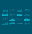 set of hud and infographic elements data analysis vector image vector image